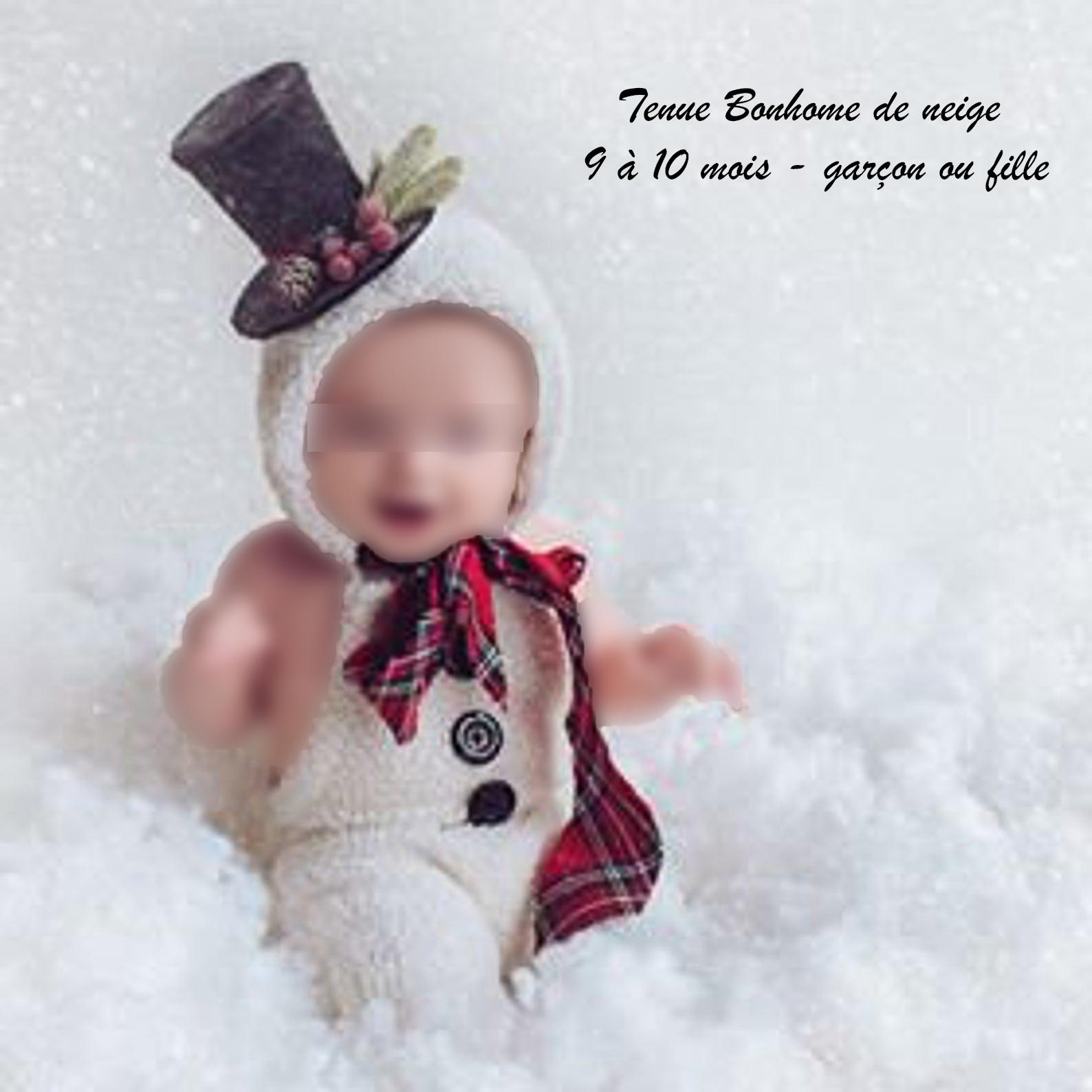 Tenue bébé bonhomme de neige